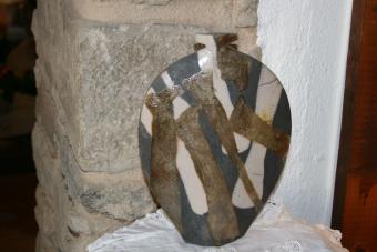 Jarron grande ceramica decorativa