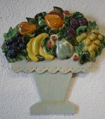 Flowered ceramic jar