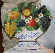 Ceramic soup bowl with fruits