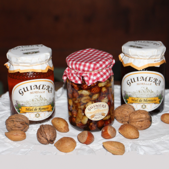 Pack of Honeys with nuts and dried fruits